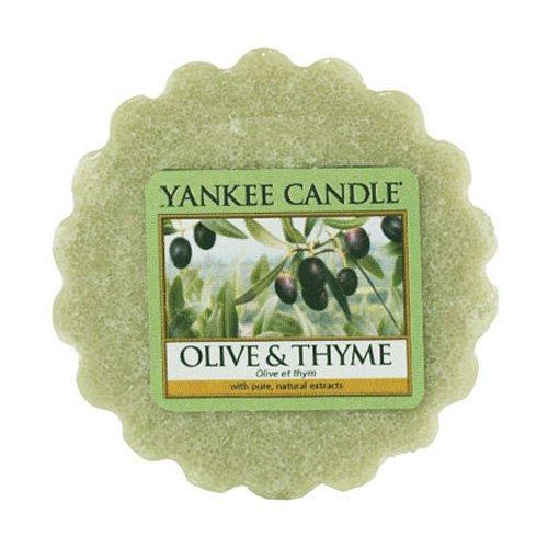 YANKEE CANDLE Bougie tartelette en Cire d'olive et Thym, Vert