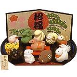 【招福】 十二支置物 干支 正月飾り 【日本製】