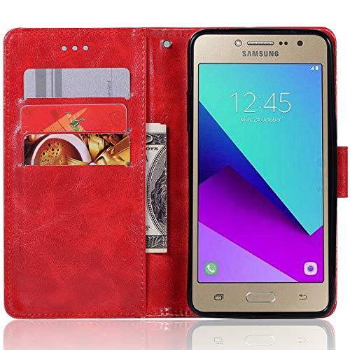 Funda para Samsung Galaxy Grand Prime Plus, Galaxy Grand Prime Plus, funda tipo cartera, de piel sintética vintage con cierre magnético para Samsung Galaxy Grand Prime de 5.0 pulgadas (2016), Samsung Galaxy Grand Prime Plus