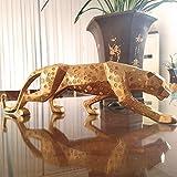 Figura,Figuras,Estatuas,Estatuillas,Esculturas,Forma Animal Sencillo Origami Dinero Leopard Home Decoración De Arte De Salón Dormitorio Oficina Artesanía