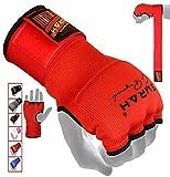 EMRAH Cinta Boxeo Vendas Mano Muñeca Elasticas Interiores Guantes MMA Envolturas Vendaje Kick Boxing -X (Medio, Rojo)