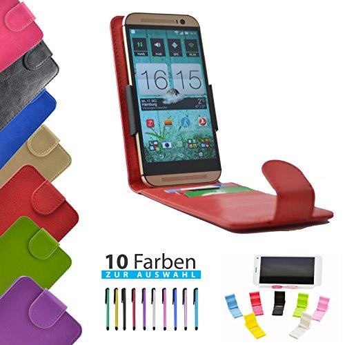 4 in 1 set ikracase Slide Flip Hülle für Archos 50 Titanium 4G Smartphone Tasche Case Cover Schutzhülle Smartphone Etui in Rot