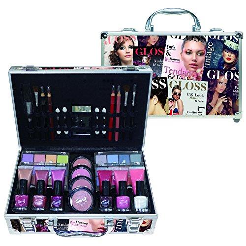 Gloss! Mallette de Maquillage Beauty Tendance Colore 61 Pièces, Coffret Cadeau-Coffret Maquillage