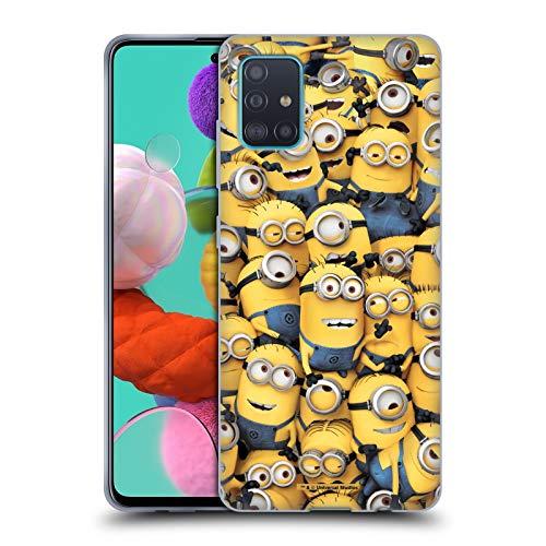Head Case Designs Licenza Ufficiale Despicable Me Modelo Minions Divertenti Cover in Morbido Gel Compatibile con Samsung Galaxy A51 (2019)