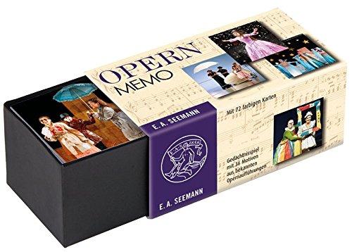 Opern-Memo: Gedächtnisspiel mit 36 Motiven aus bekannten Opernaufführungen