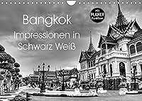 Bangkok Impressionen in Schwarz Weiss (Wandkalender 2022 DIN A4 quer): Eindruecke aus der Hauptstadt von Thailand (Geburtstagskalender, 14 Seiten )