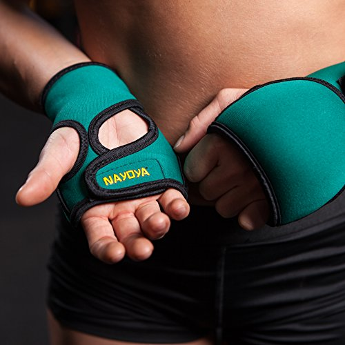 Nayoya Weighted Gloves - 1 Pound Each Glove for Sculpting MMA Cardio Aerobics Hand Speed Coordination Shoulder Strength and Kickboxing