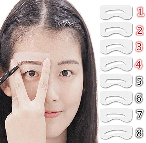 Demarkt Pochoir Sourcil Toilettage Modele Maquillage Beaute Faconnage Bricolage Kit 1 Jeu 8Pcs