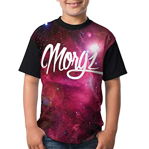 Morgz Challenge Boys and Girls Print T-Shirts, Youth Fashion Tops M