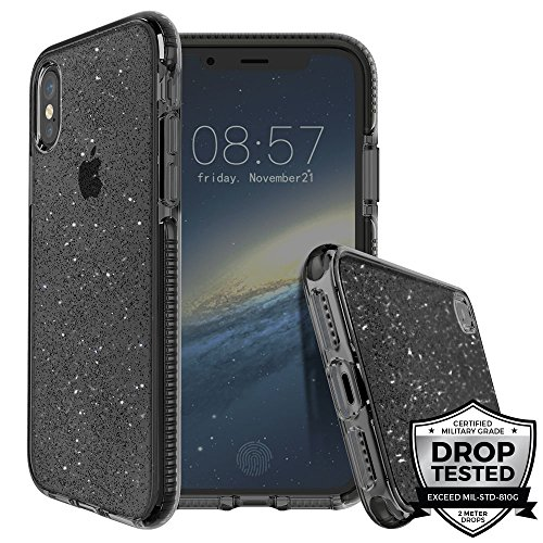 Apple iPhone X (2017) iPhone Xs (2018) Case - Black Grey | Superstar Series | 2 Meters Military Grade Drop Tested | Scratch Resistant | Shockproof - 5.8 inch