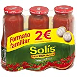SOLIS Tomate Frito Frasco Cristal - Tomate sin gluten - 5400g - Paquete de 5x1080g