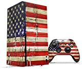 WraptorSkinz Skin Wrap compatible with the 2020 XBOX Series X Console and Controller Painted Faded and Cracked USA American Flag (XBOX NOT INCLUDED)