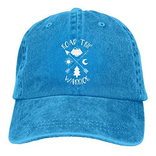 XCNGG Road Trip Warrior Logo Sombreros de Vaquero Unisex Sombrero de Mezclilla Deportivo Gorra de béisbol de Moda Negro