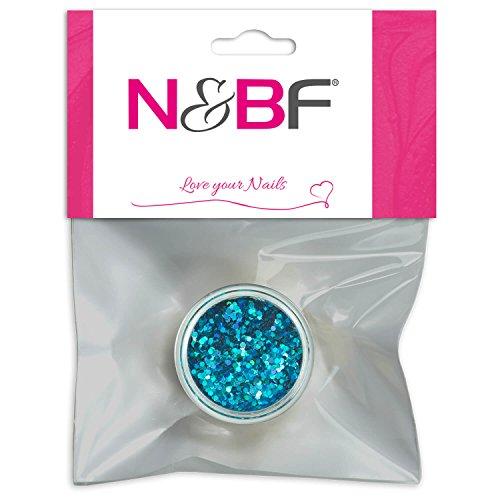 Nail Art Paillettes Petit Light Blue pour Full Cover Model couches & individuelle Nail Art Design Motif