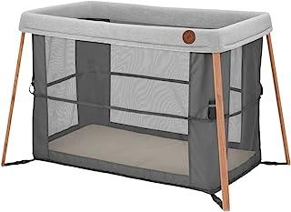 Maxi-Cosi Iris 2-in-1 Reisebett Baby, faltbares Kinderbett für Unterwegs, für Neugeborene bis Kleinkinder- auch als Laufstall nutzbar, ab der Geburt bis ca. 3 Jahre, Essential graphite