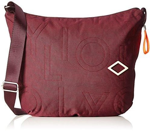Oilily Damen Spell Shoulderbag Lhz Umhängetasche, Rot (Burgundy), 8x32x40 cm