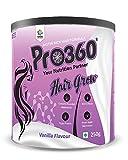Pro360 Hair Grow Nutritional Protein Drink (Vanilla Flavour) Biotin Rich Dietary Supplement