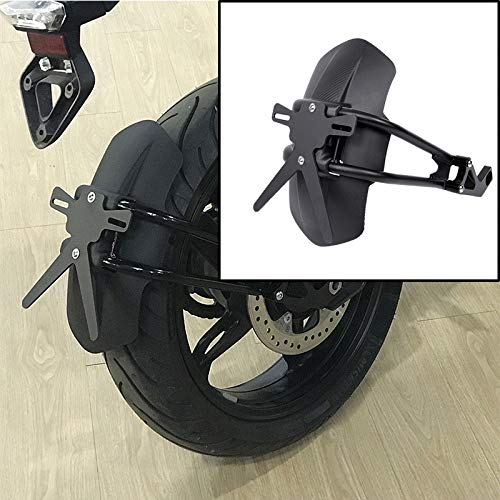 XX eCommerce Motorcycle Motorbike Black Rear Fender Mount Hugger Mudguard Wheel Hugger Splash Guard Cover for 2017-2018 BMW G310GS G310R G310 GS G310 R17 18