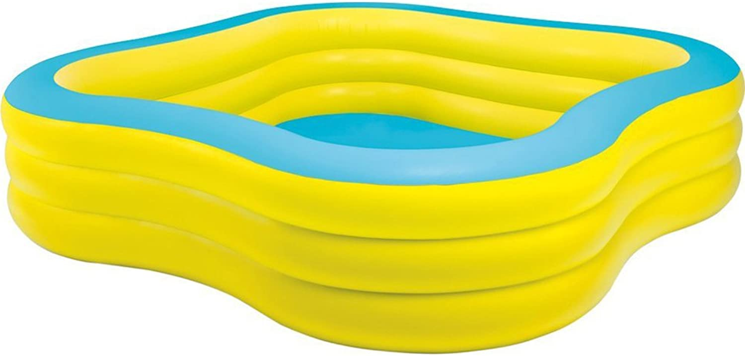 Intex 57495EP Pool Inflatable Pool Square 1215L bluee, Yellow Above-Ground Pool