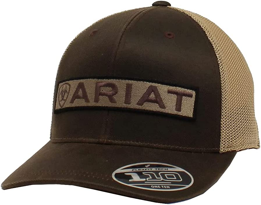 ARIAT Men's Flex Fit 110 Long Logo Brown Cap