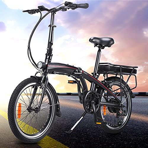 Bici Electricas Adulto Bici Electrica Bici eléctrica de la Ciudad del neumático de 20 Pulgadas Bicicleta eléctrica para Adultos con 3 Modos de conducción Bicicleta Unisex