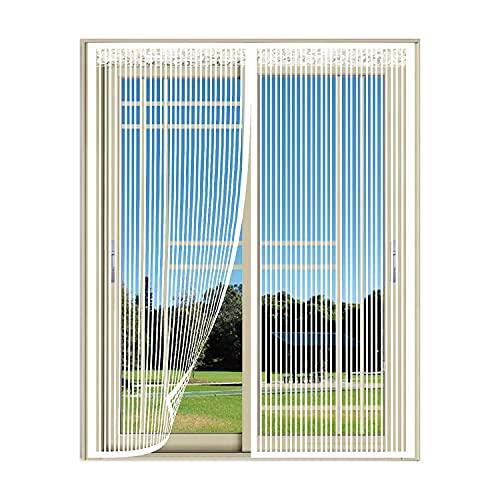 Mosquitera Puerta Corredera Magnetica, Cierre Automaticamente Evita Paso de Insectos, para Puerta de Patio y Puerta de Balcón, Los niños y las mascotas pasan fácilmente-200x200cm(78x78inch)
