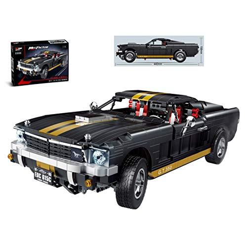 WWEI Piezas de construcción de coche para Ford Mustang GT 350,1:10, modelo Speed Champions Racing, bloques de construcción compatibles con Lego