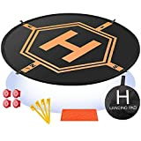Drone Landing Pad 4 LED Lights Included 32' Aurtec Portable Fast-Fold RC Quadcopter Helipad for DJI Mavic Pro, Phantom 2 3 4 Pro, Inspire 2 1, Spark, Yuneec, 3DR Solo, GoPro Karma, Parrot & More