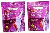 Walgreens Sore Throat Lollipops, Cherry and Grape -20 Each Pack (2 Packs)