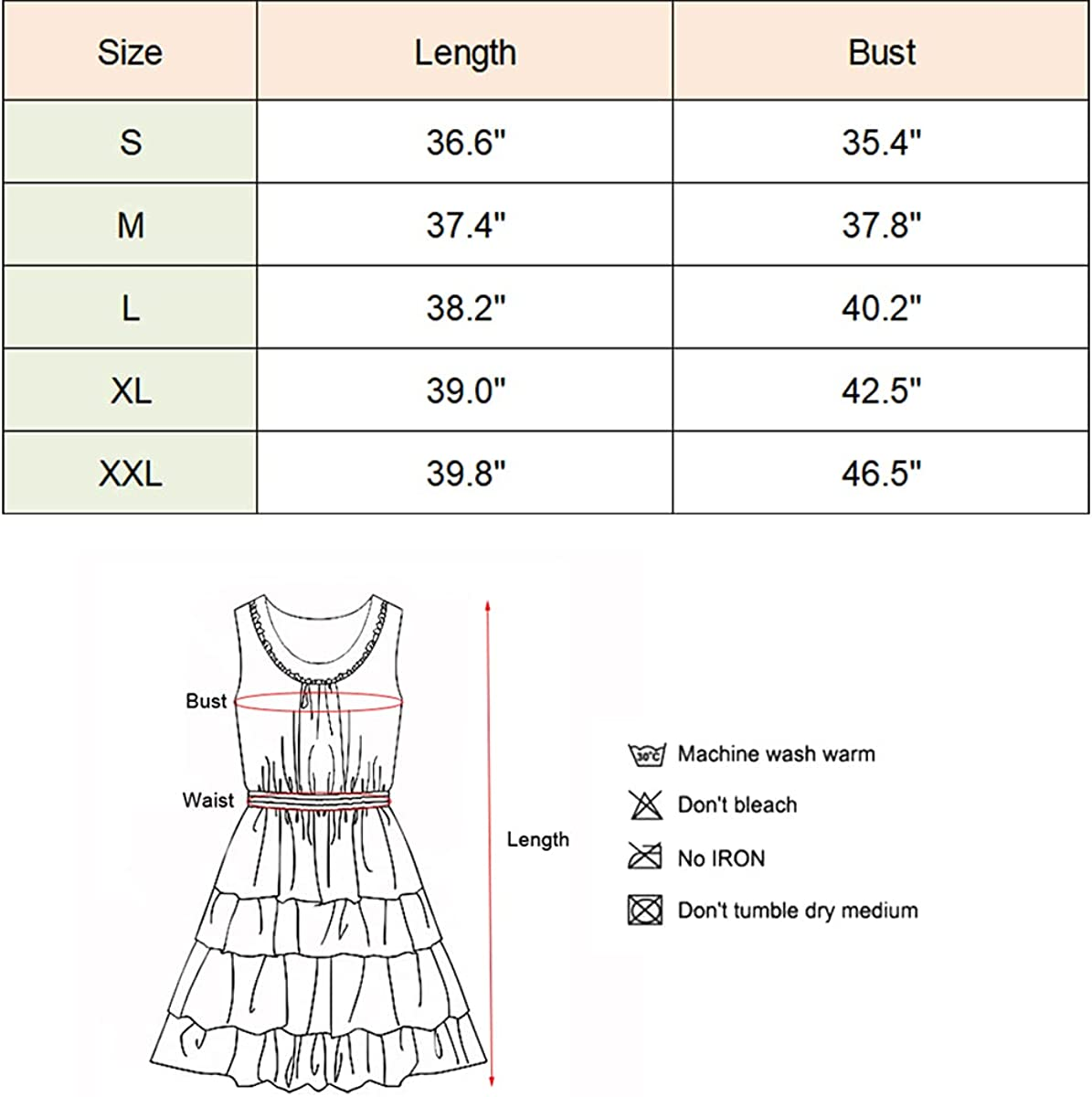 Hibluco Women Summer Swing Dress Casual Floral Knee Length Sleeveless Dresses