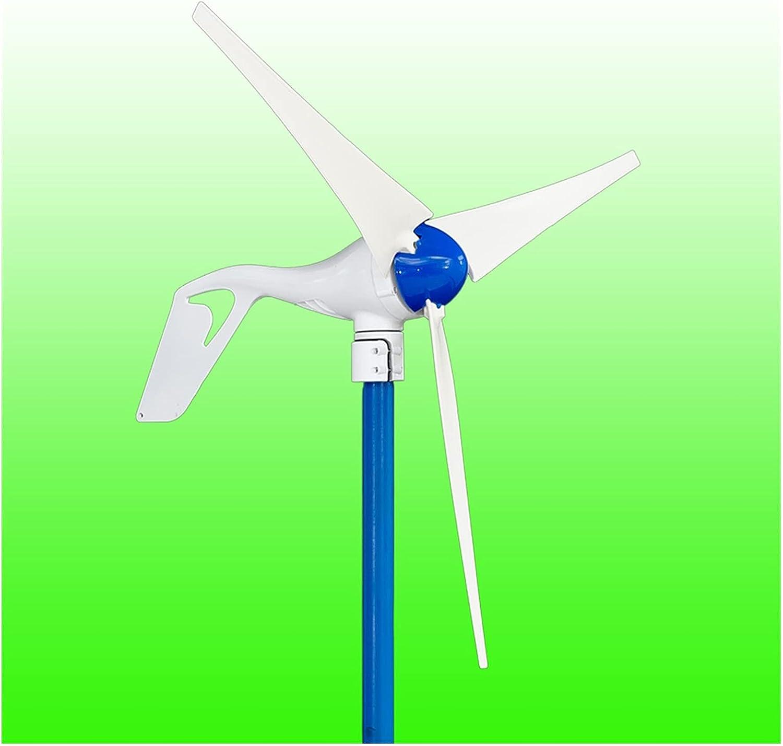Pequeñas turbinas eólicas Generador de viento de imán permanente con rectificador 5 PCS DC12V / 24V 400W Generador de viento incorporado (Color : Without Controller, Specification : 5 Blades)