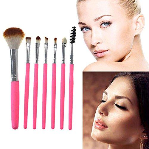 7 Cils Poignée En Plastique Rouge Fard à Paupières Pinceau De Maquillage Rose Sac Composé Rawdah 7 Pcs Silicone Makeup Brush EyeShadow Brush Cosmetics Blending Brush Tool