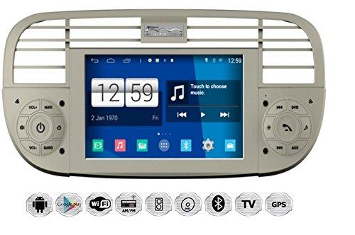 REALMEDIA Fiat 500 Autoradio Touchscreen Android Naviceiver CD DVD USB SD WIFI 3D GPS Navigation TV Bluetooth Freisprecheinrichtung +++REALMEDIASHOP Garantie+++
