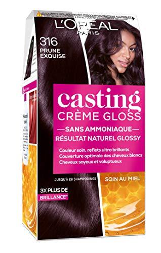 L'Oréal Paris Casting Crema Gloss Colorazione tono su tono per capelli, senza ammoniaca – prugna (316)