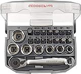 GEDORE red Bit-Knarren-Satz 1/4' mit Bit-Fix-Adapter, umschaltbar, compact 23-teilig