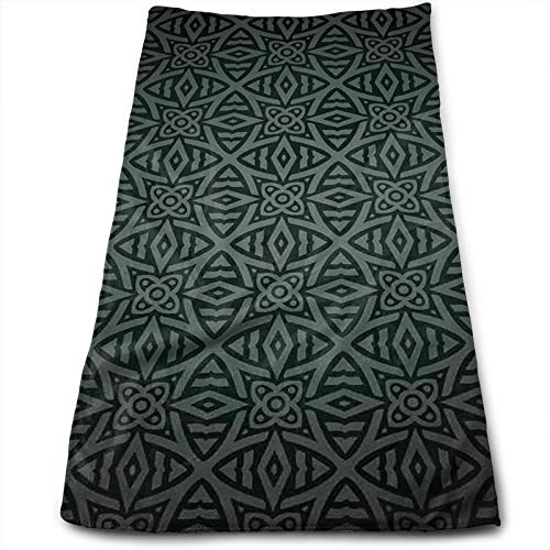 Kitchen Dish Towels Wash Cloth Car Household Pet Bath Towel,Medieval Folkloric Ornament Celtic Abstract Floral Circles,27.5 inch X15.7Inch