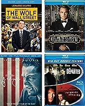 Leonardo Dicaprio Movies - The Great Gatsby/ The Departed/ Internal Affairs/ The Wolf of Wall Steer / J. Edgar (Blu ray + DVD + Digital HD)