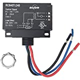 Aube Technologies RC840T-240 On/Off Switching Electric Heating Relay with Built-in 24 V Transformer, Black