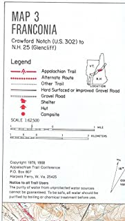ATC Maps 3 + 4, Franconia and Hanover, Appalachian Trail in New Hampshire [unbound]