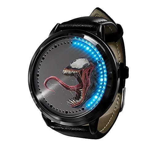 Marvel Movie Venom Series, Reloj LED Reloj de Cuarzo analógico a Prueba...