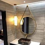 CDDSML Espejo Montado En La Pared Espejo De Vanidad para Dormitorio Decoración Colgante De La Pared para El Pasillo Espejo De Maquillaje Redondo De Baño, 60 Cm(Size:60cm,Color:Dorado)