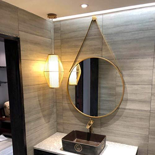 Espejo De Tocador Nórdico, Decoración para Colgar En La Pared, Espejo De Baño, Simple, Moderno, Maquillaje De Baño, Gran Espejo Redondo De 70 CM(Size:70cm,Color:Dorado)