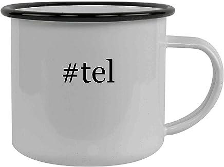 #tel - Stainless Steel Hashtag 12oz Camping Mug, Black