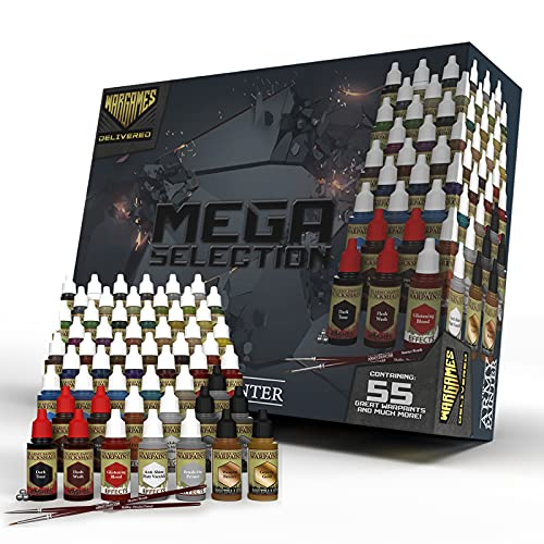 The Army Painter- Wargames Delivered Mega Selection Model and Miniature Paint Set- Model Paints for...