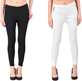 KIBA RETAIL Women's Chain Jegging Comfortable and Stretchable Casual Wear Jegging, Combo (Pack-2)