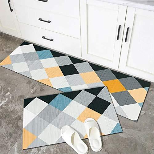 OPLJ Alfombra de Cocina Antideslizante para Suelo, Alfombra de baño Moderna, Felpudo de Entrada, alfombras absorbentes de Moda, Felpudo Lavable A2 50x160cm