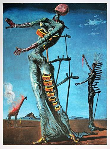Impronte ipz241 - Dalí: La Giraffa in Fiamme - Puzzle 1000 Pezzi
