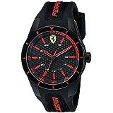 Ferrari Men's 0830245 REDREV Analog Display Quartz Black Watch