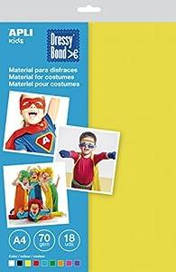 APLI Kids - Bolsa tela para disfraces Dressy Bond A4 multicolor, 18 hojas