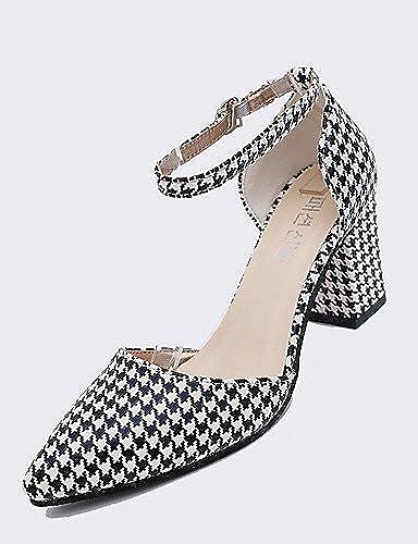 BGYHU GGX Damen Heels Party & Abend Kleid Office & Karriere Fashion PU Leder Woven Heels Sandalen MultiFarbe 34–39